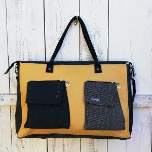 borsone realizzato con materiali di riciclo da Ricicli Design