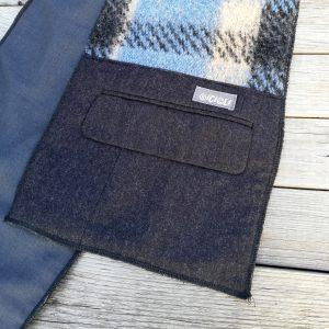 Sciarpa realizzata tessuto caldo e con tasche di giacche da Ricicli Design